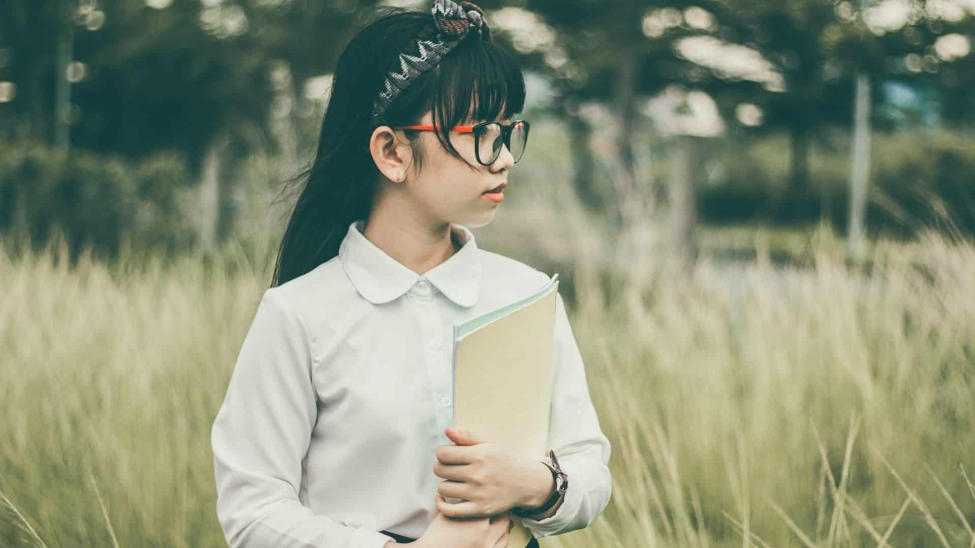 Asian school children student