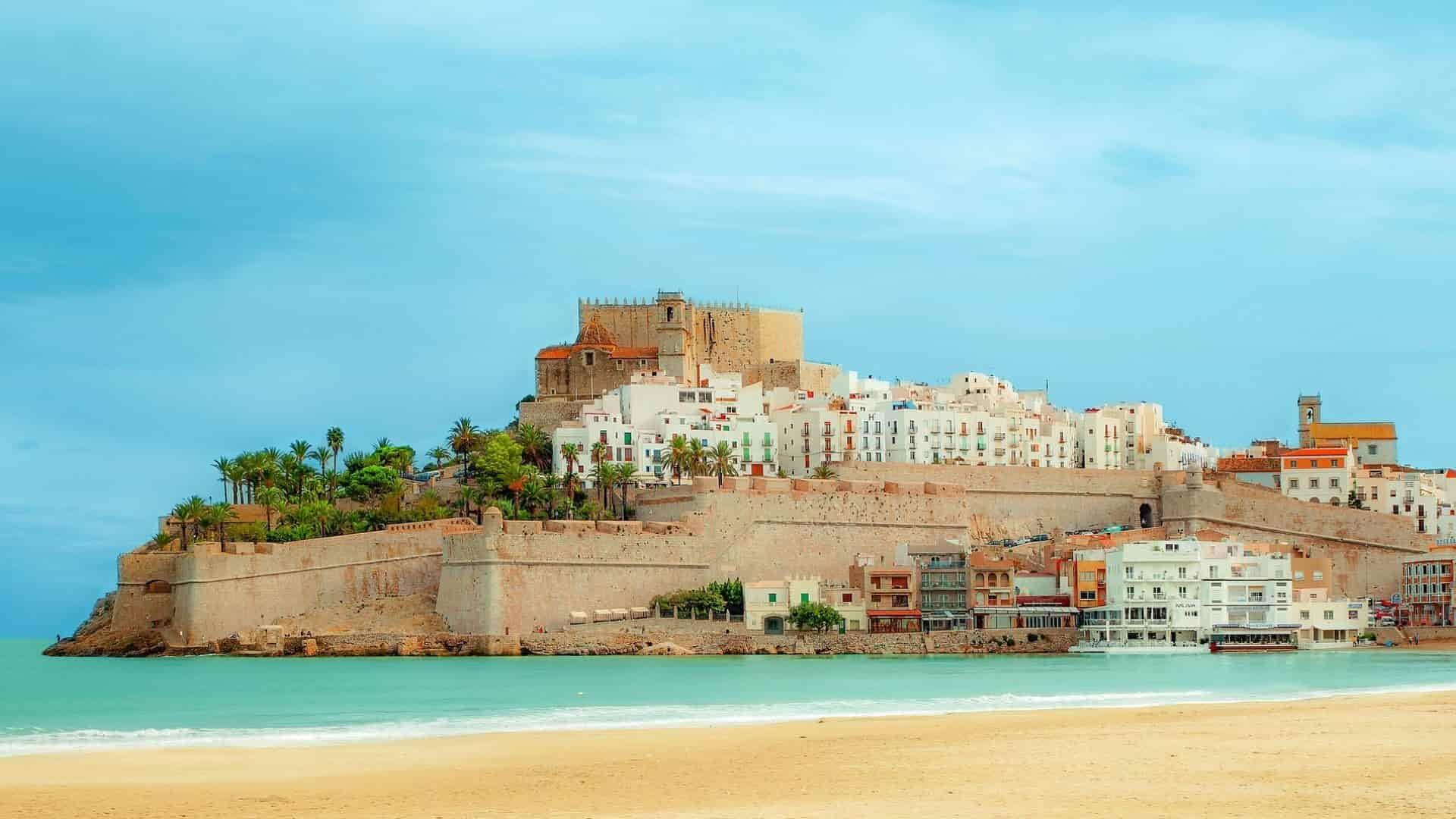Spain Peñíscola Castle Beach Houses