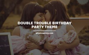 Double Trouble Birthday Party Theme Whattogetmy