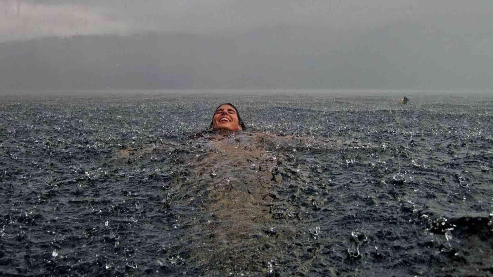 Swim in the rain
