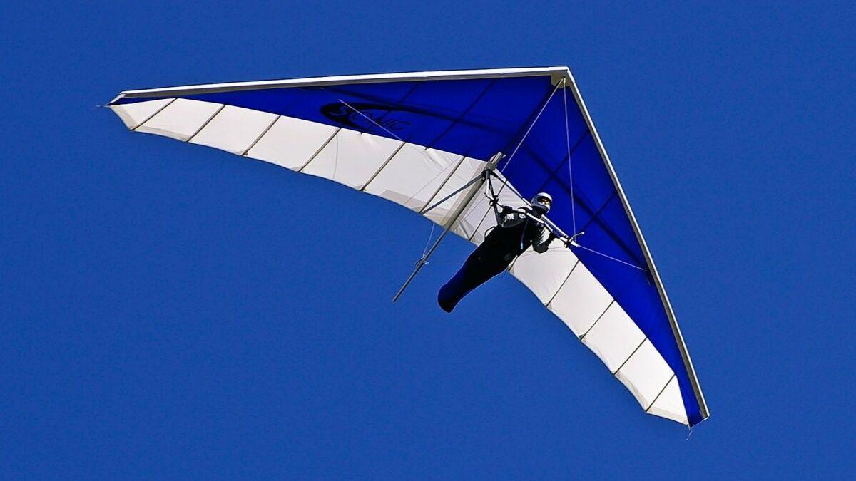Hang gliding with boyfriend