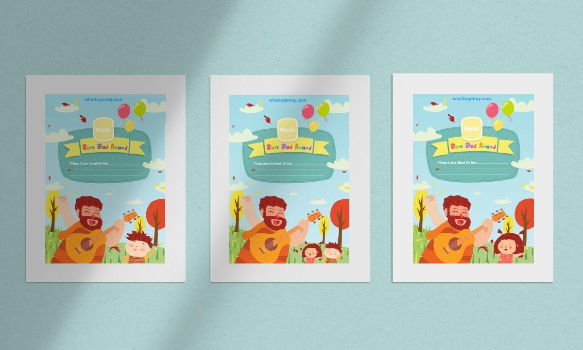 Free printable Funny card for Dad Christmas