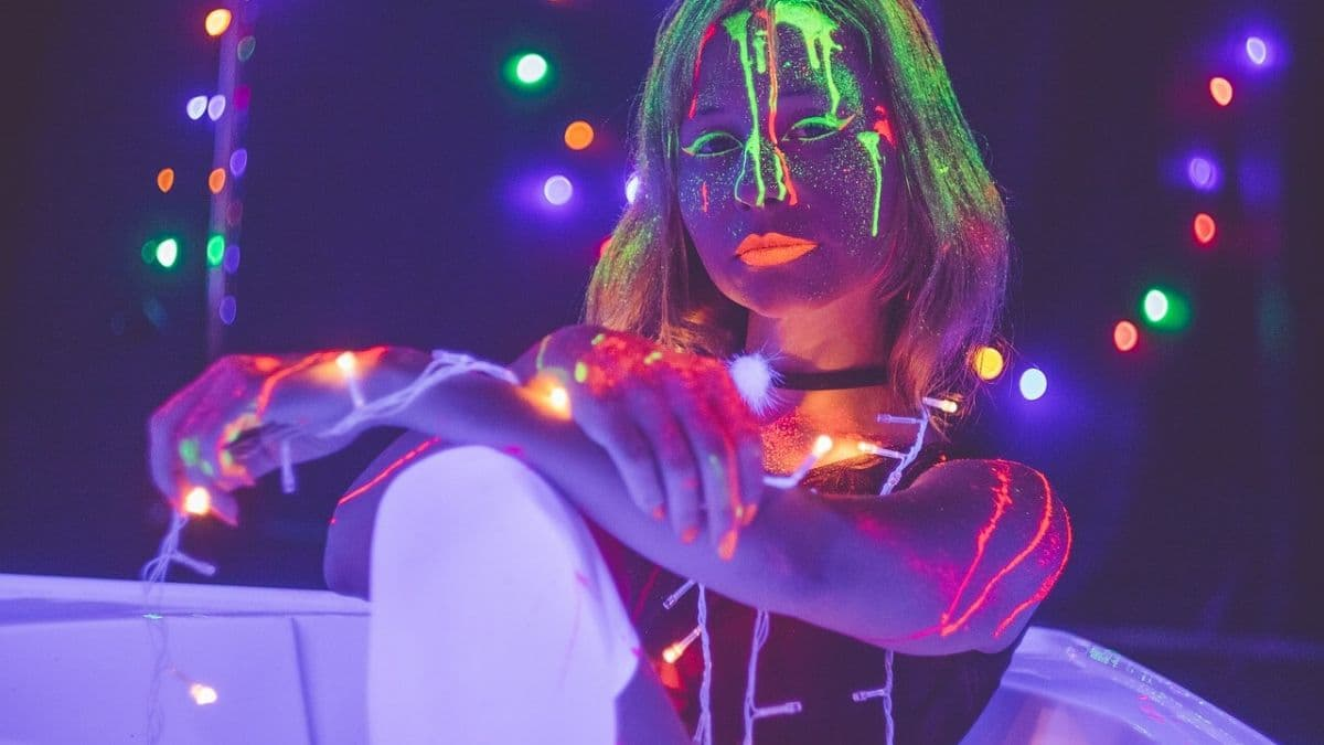 A Neon or Glow Birthday Party