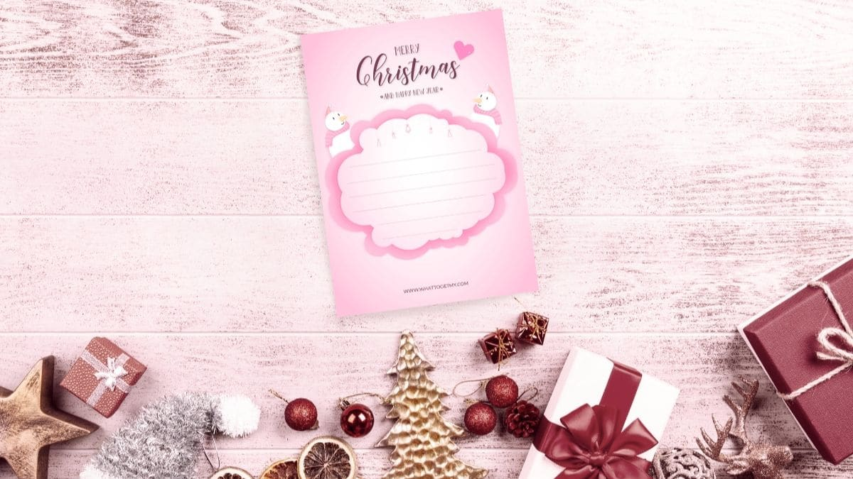 Download This Free PrintableChristmas &New Year WishesCard For Your Love