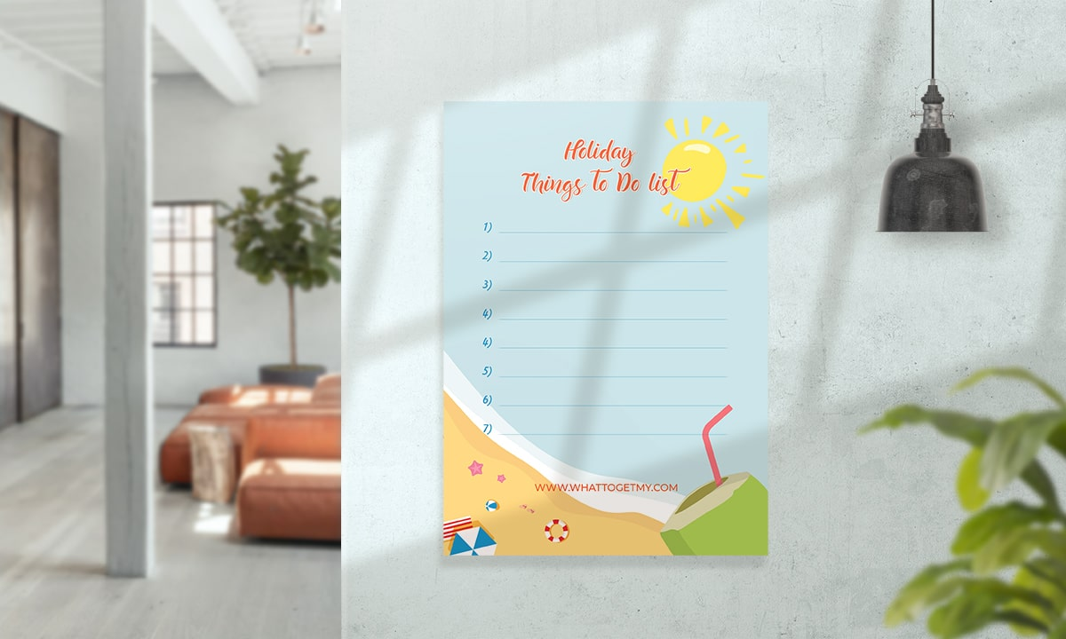 Holiday to do list card, holiday activities card Cool Gifts For Nephews From Cool Aunt Or Uncle- Profile