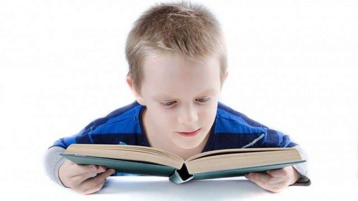 boy is reading
