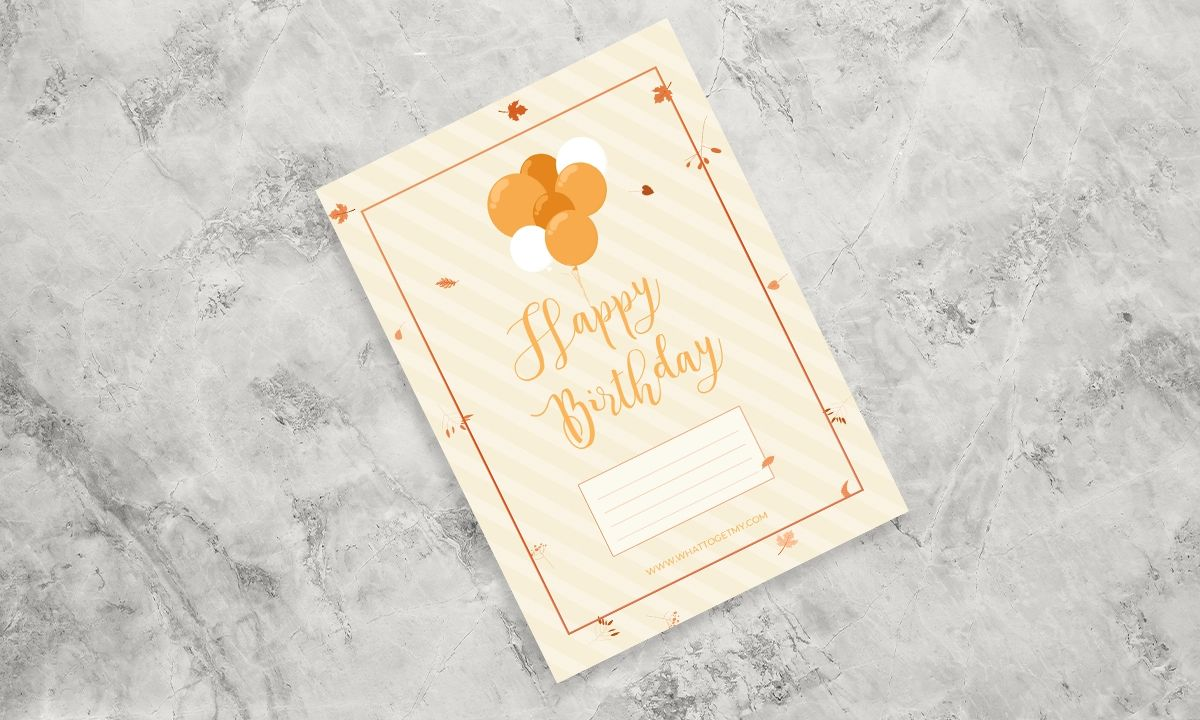 Free Printable HappyBirthday Wishes Card