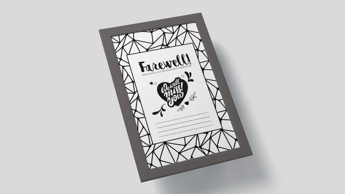 Free printable farewell card for boss