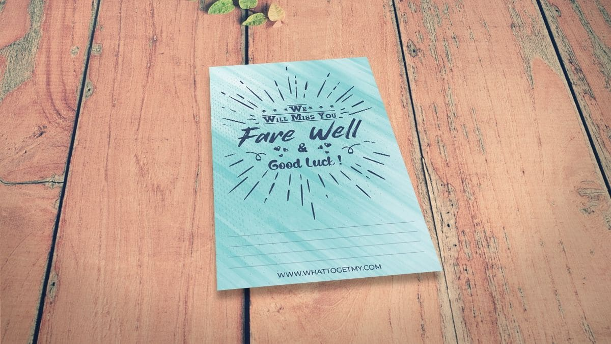 Free printable going away card for coworker