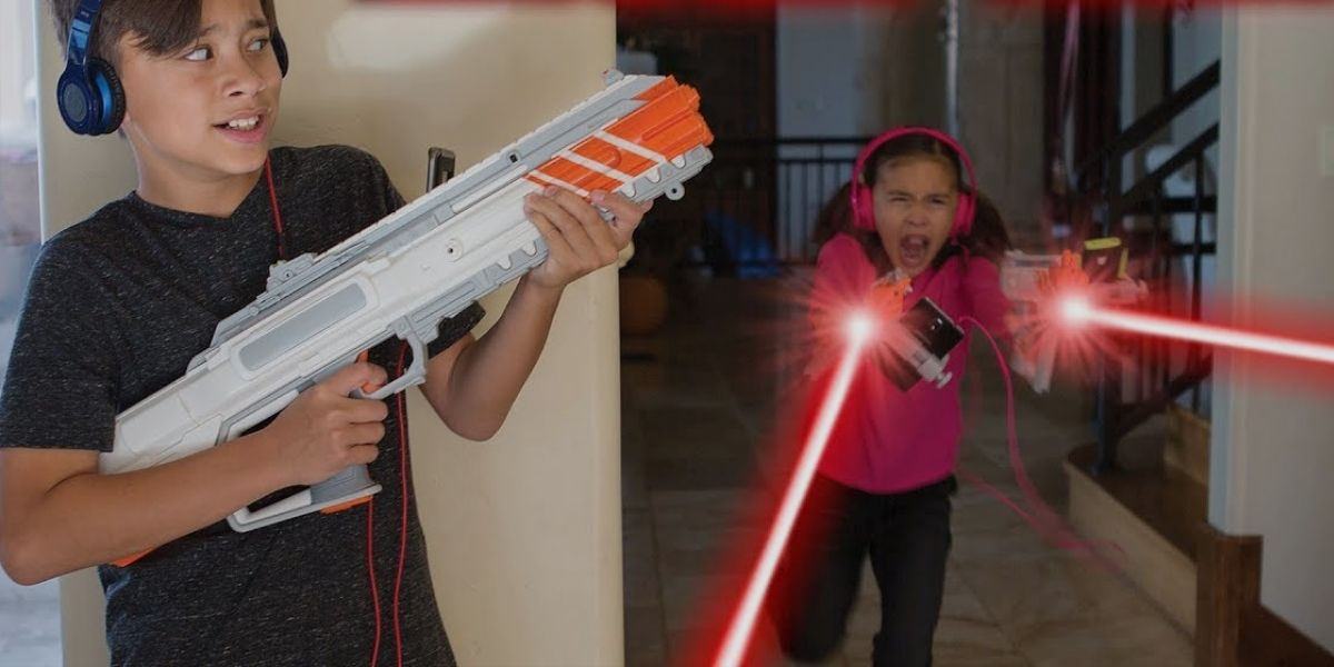 Laser tag (Taking teens to play laser tag can never be boring)