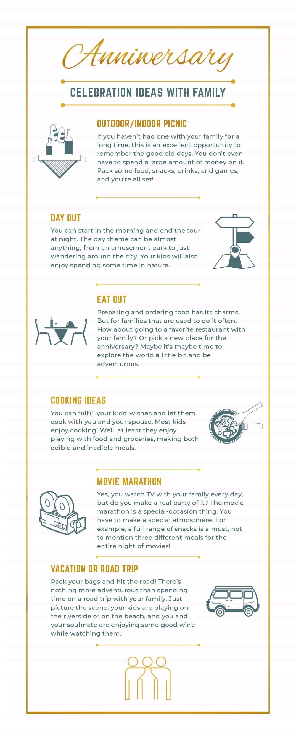 Infographic Anniversary Celebration Ideas with Family