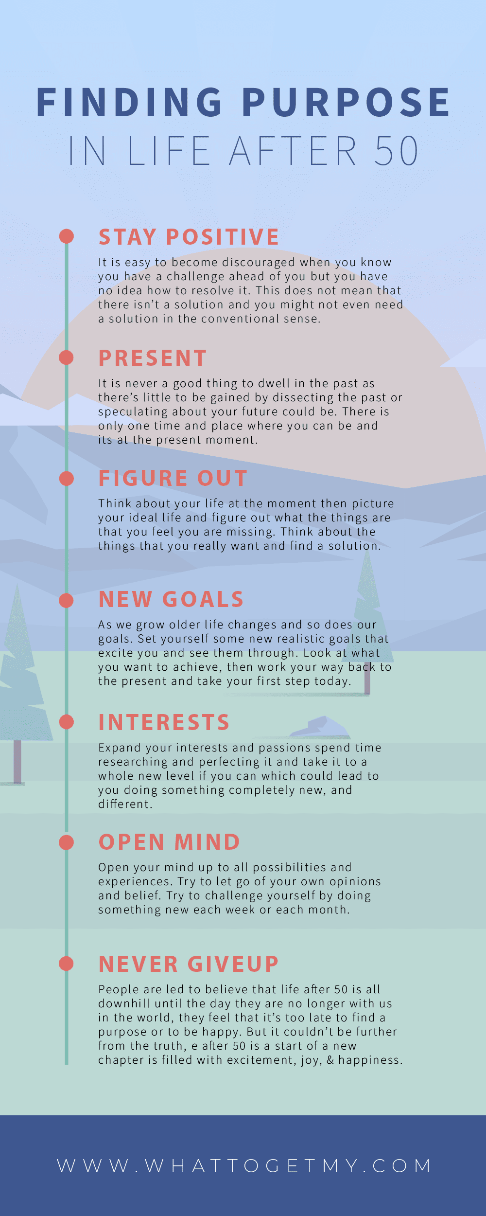Infographic Finding Purpose In Life After 50