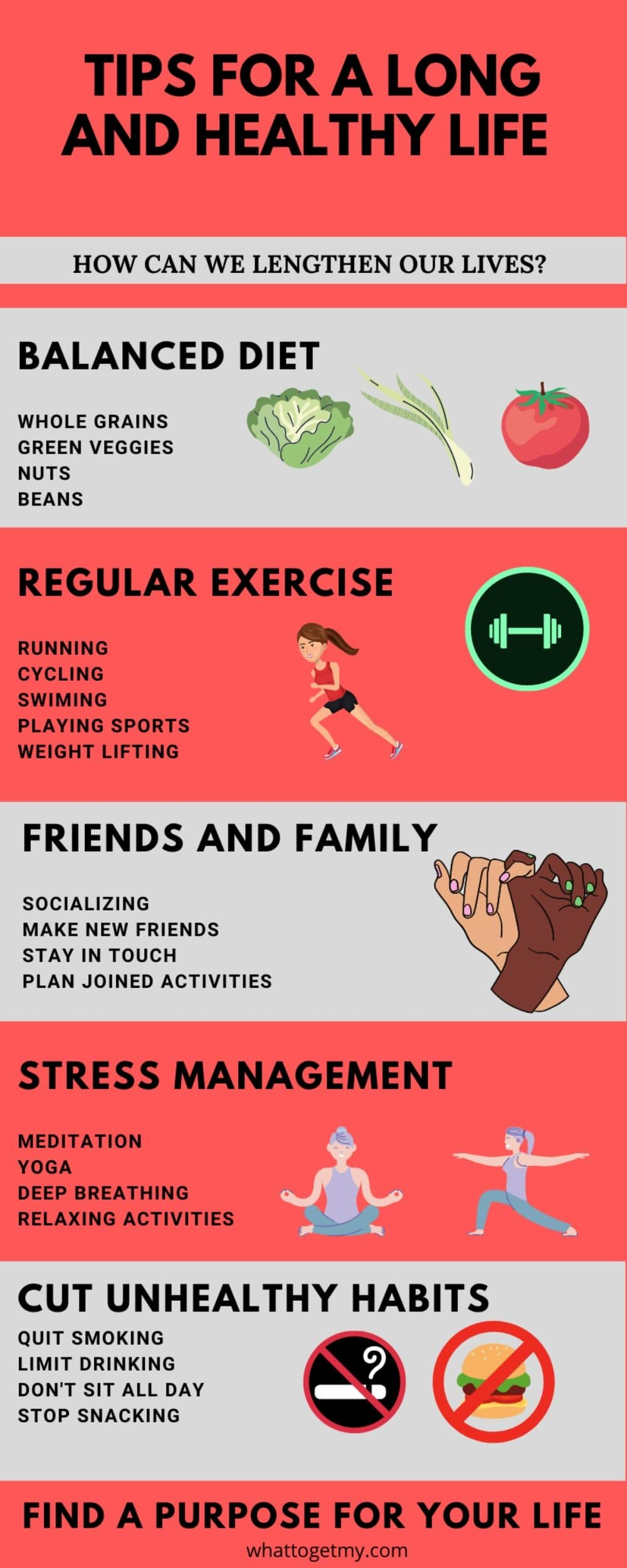 Infographic Tips For a Long And Healthy Life