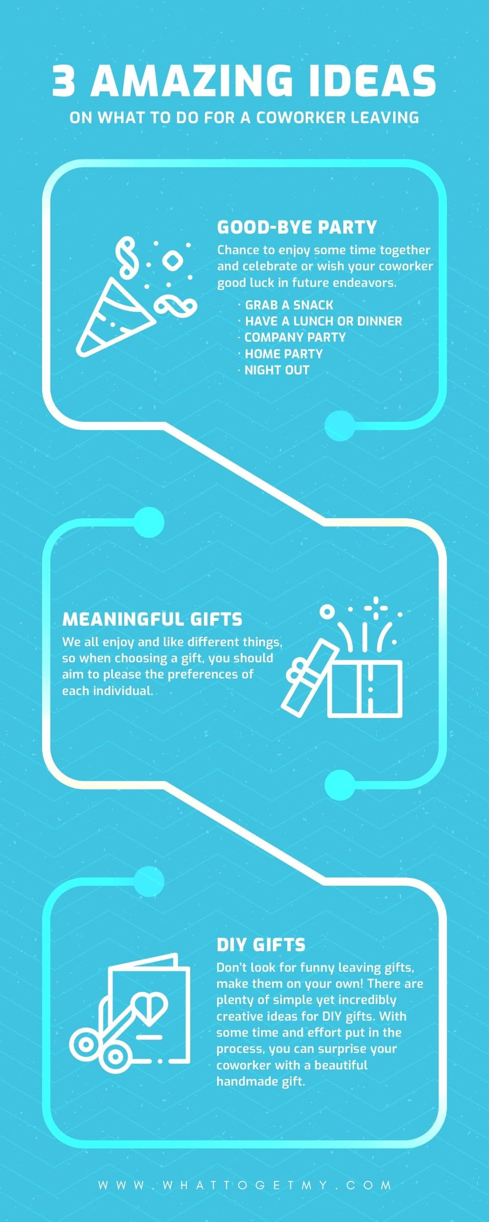 Infographic What to Do For a Coworker Leaving