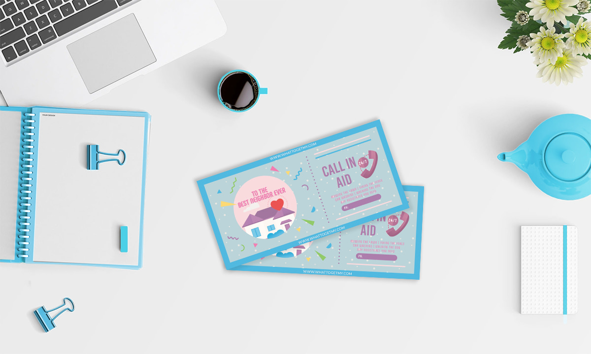 Printable card Gift Ideas For Helpful Neighbor Profile