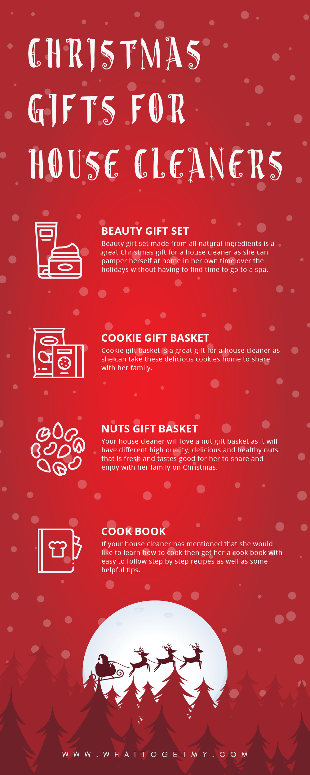 Infographic Christmas Gifts For House Cleaners