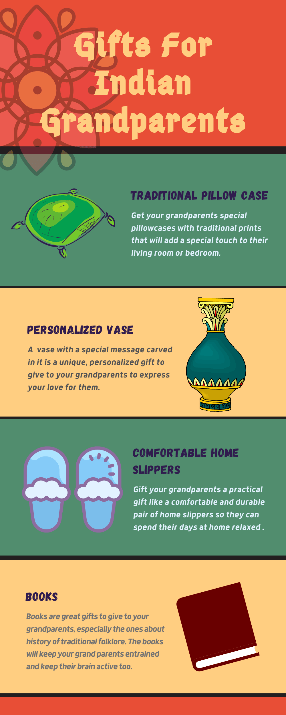 Infographic Gifts for indian grandparents