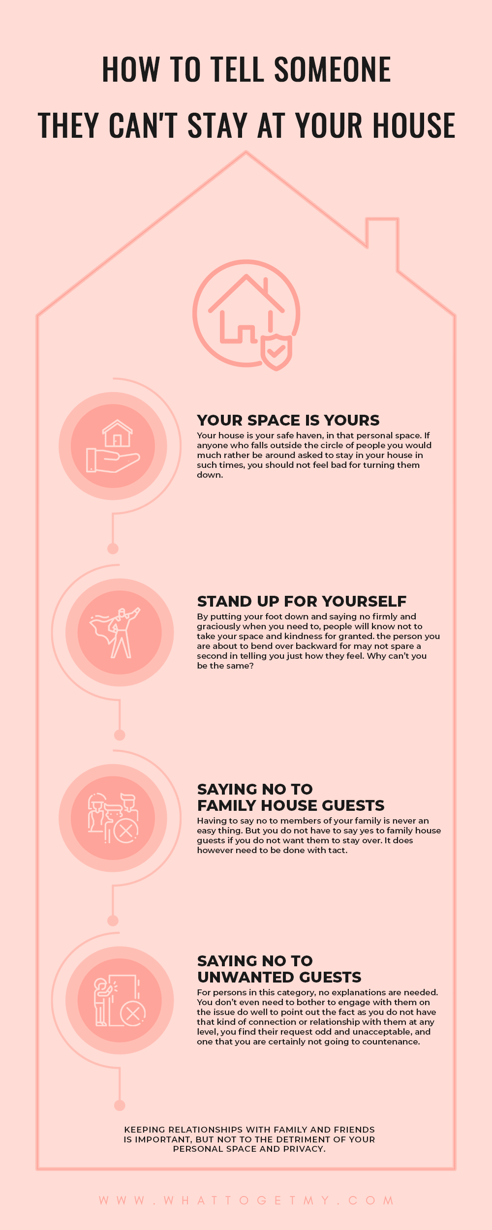 Infographic How to Tell Someone They Can't Stay at Your House