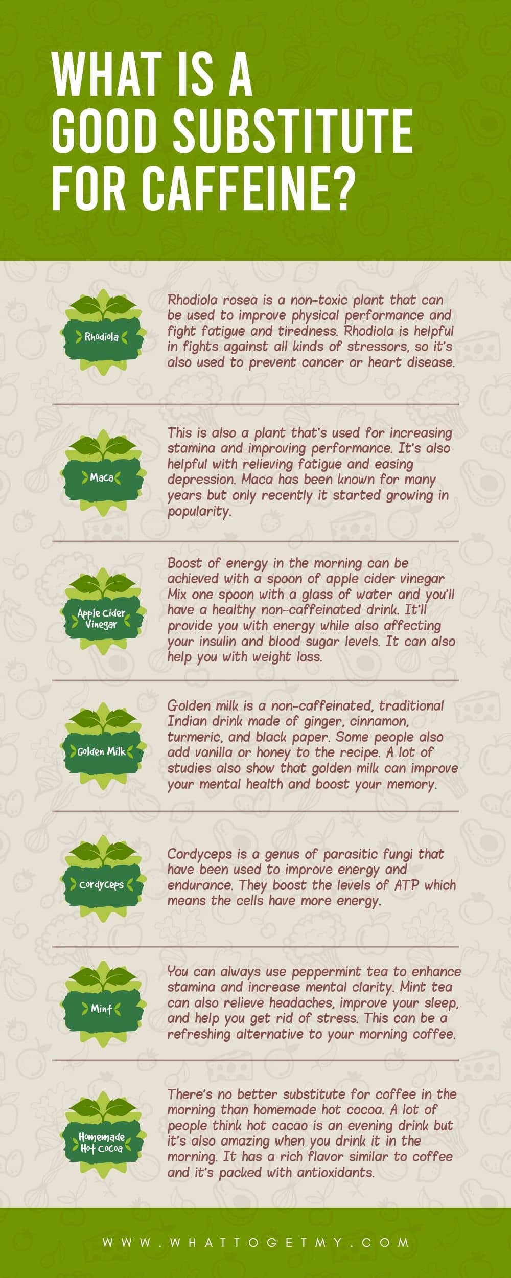 Infographic What is a Good Substitute For Caffeine