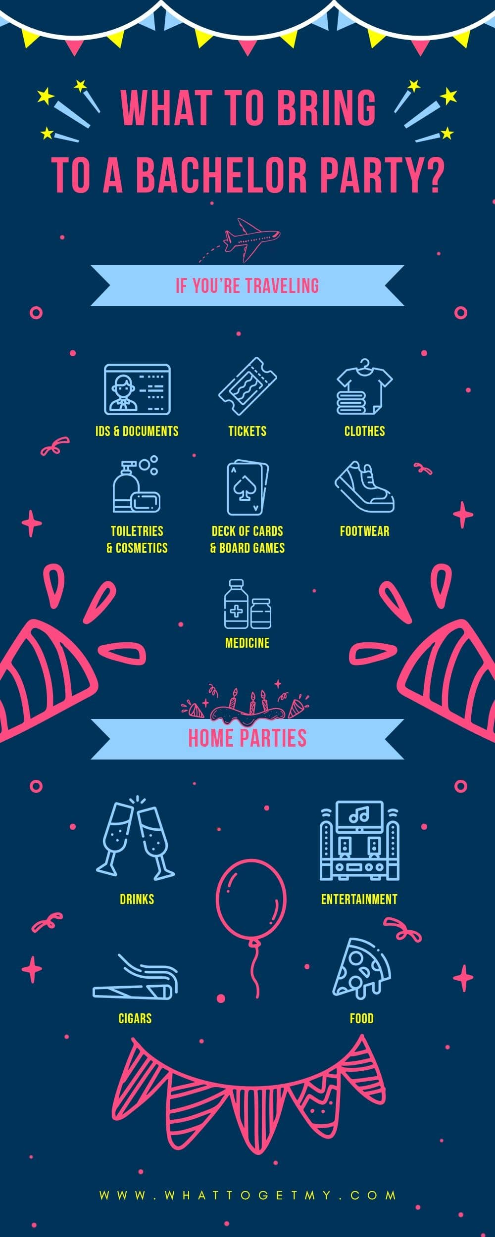 Infographic What to Bring to a Bachelor Party