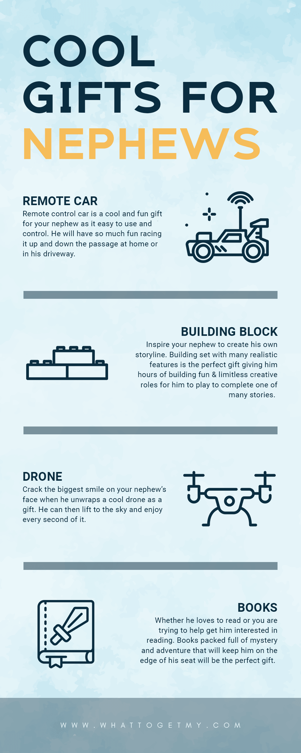 Infographic Cool Gifts For Nephews