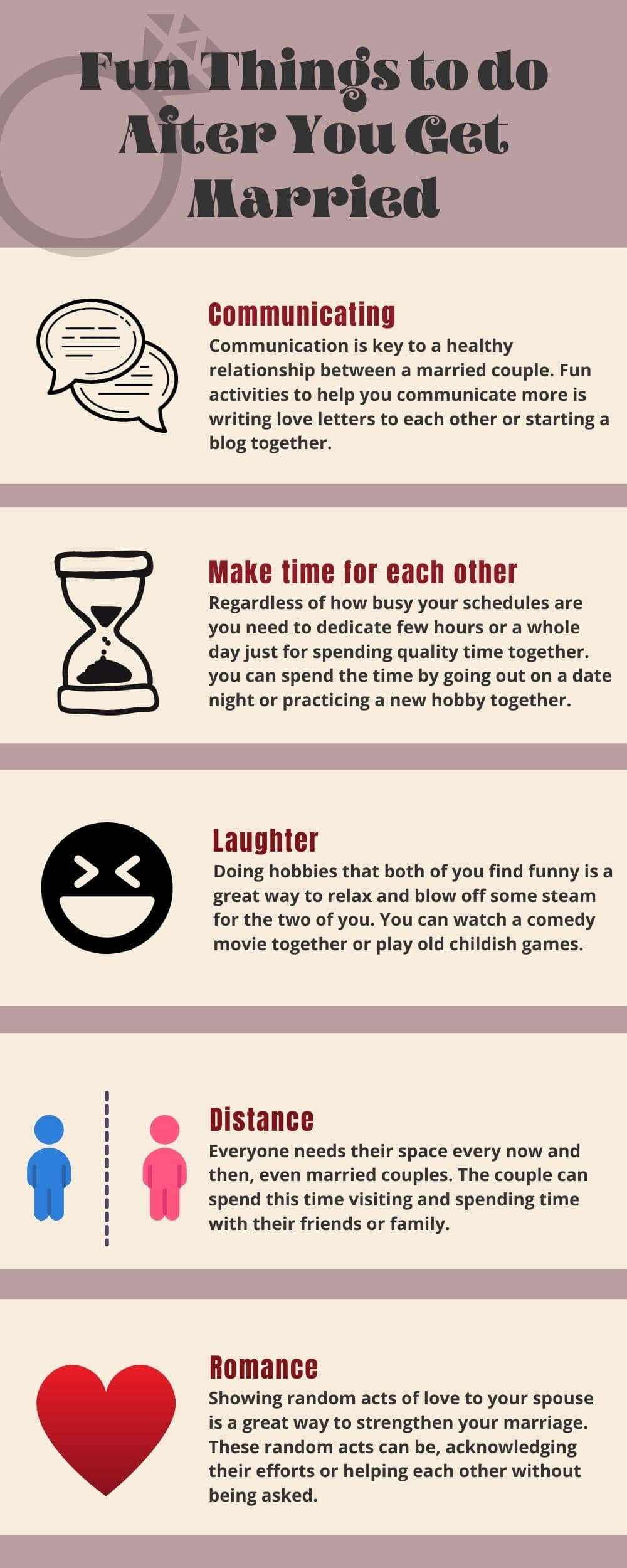 Infographic Fun things to do after getting married