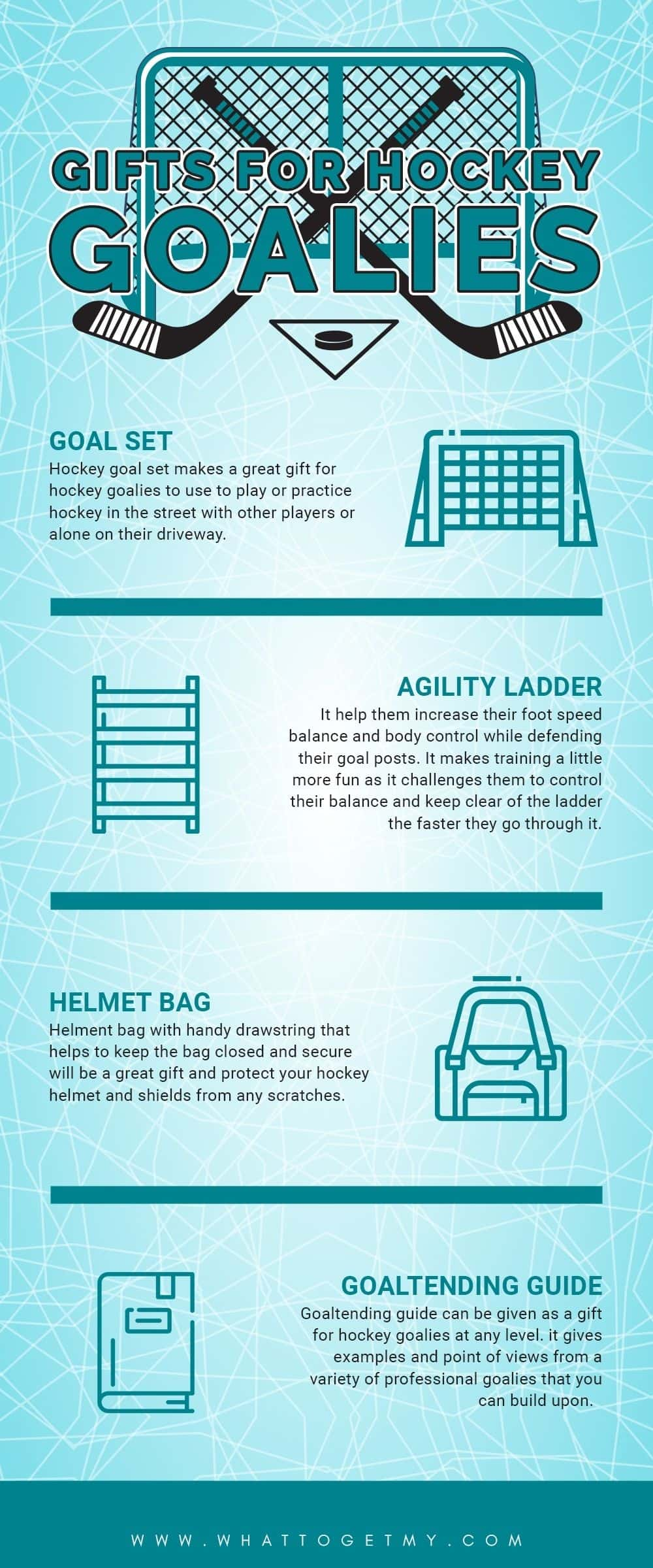 Infographic GIFTS FOR HOCKEY GOALIES