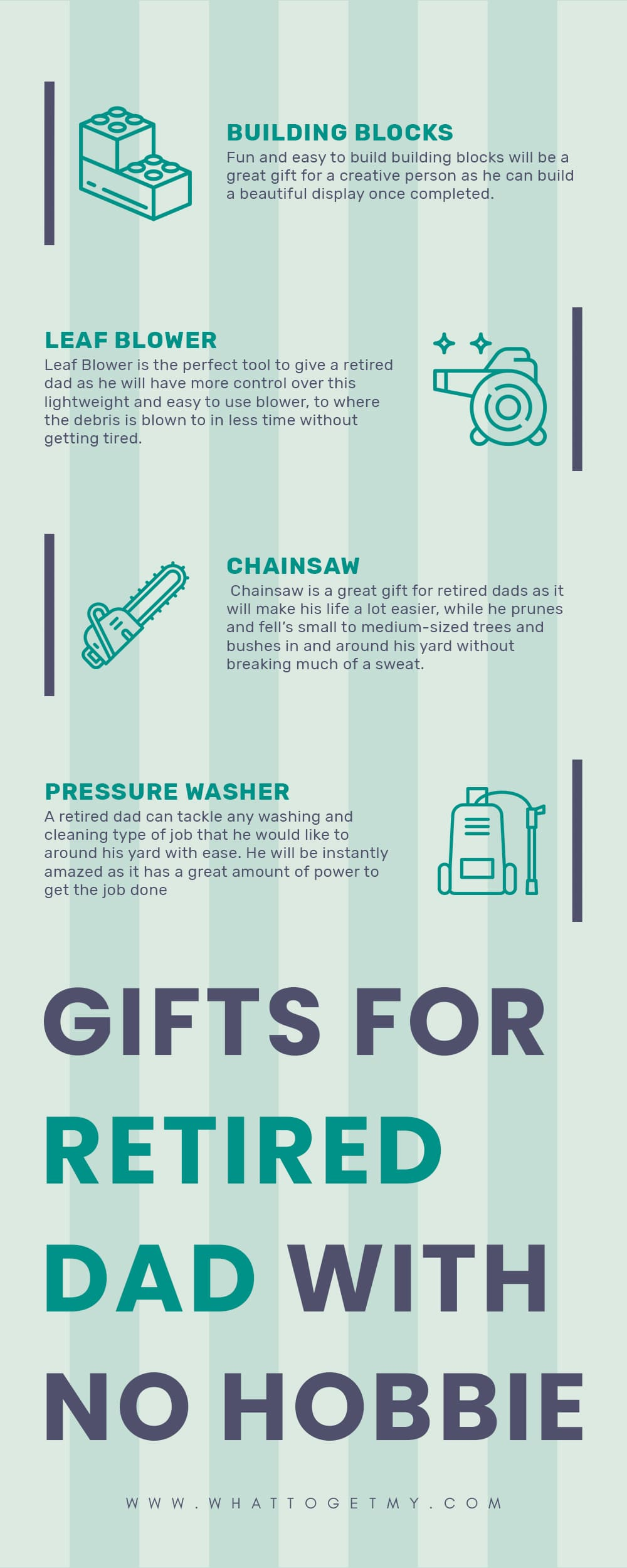 Infographic GIFTS FOR RETIRED DAD WITH NO HOBBIES