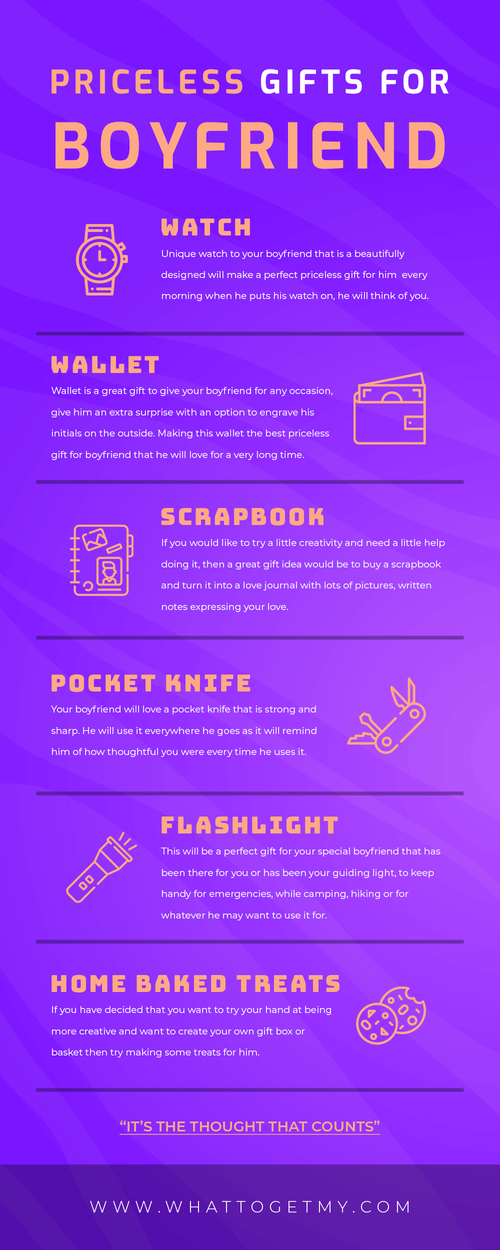 Infographic PRICELESS GIFTS FOR BOYFRIEND