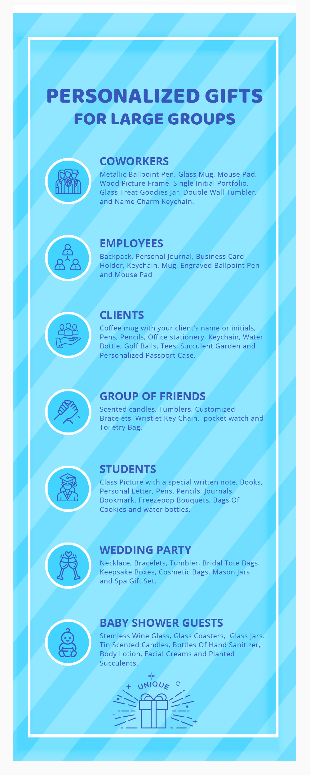 Infographic Personalized Gifts for Large Groups
