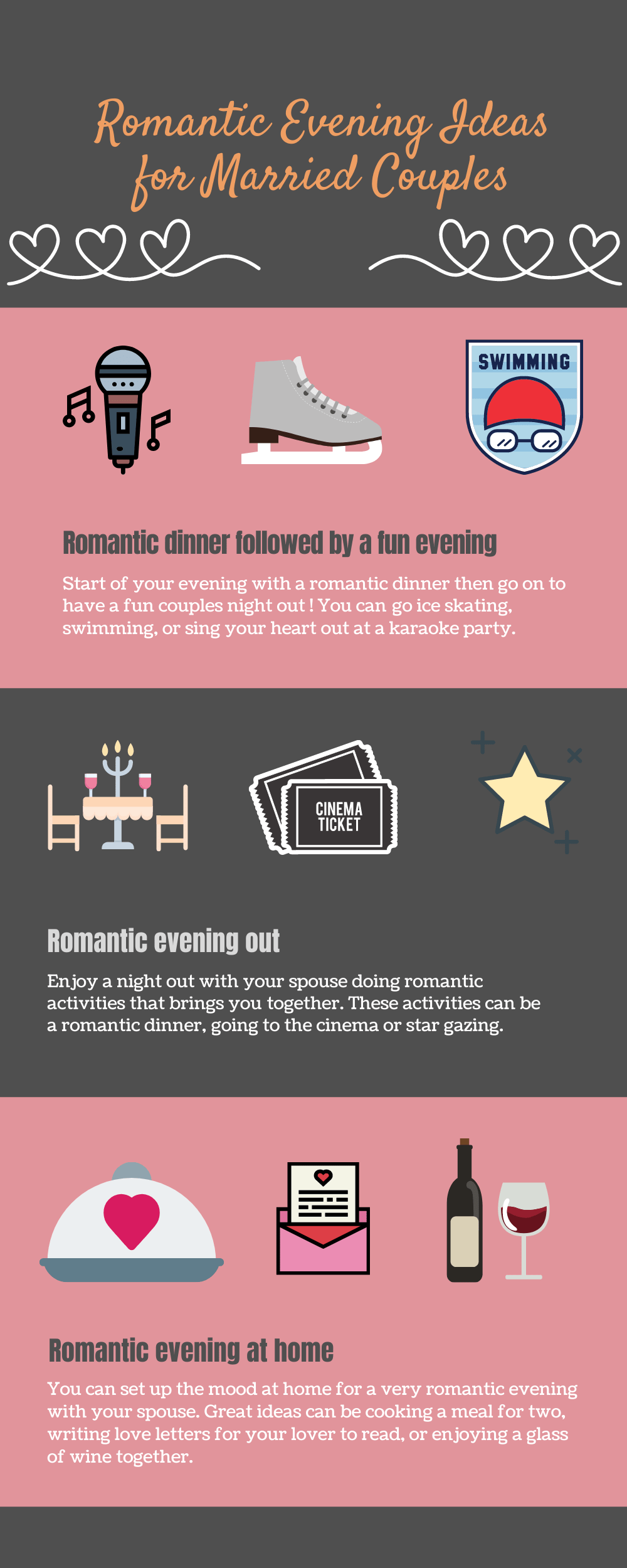 Infographic Romantic evening ideas for married couples
