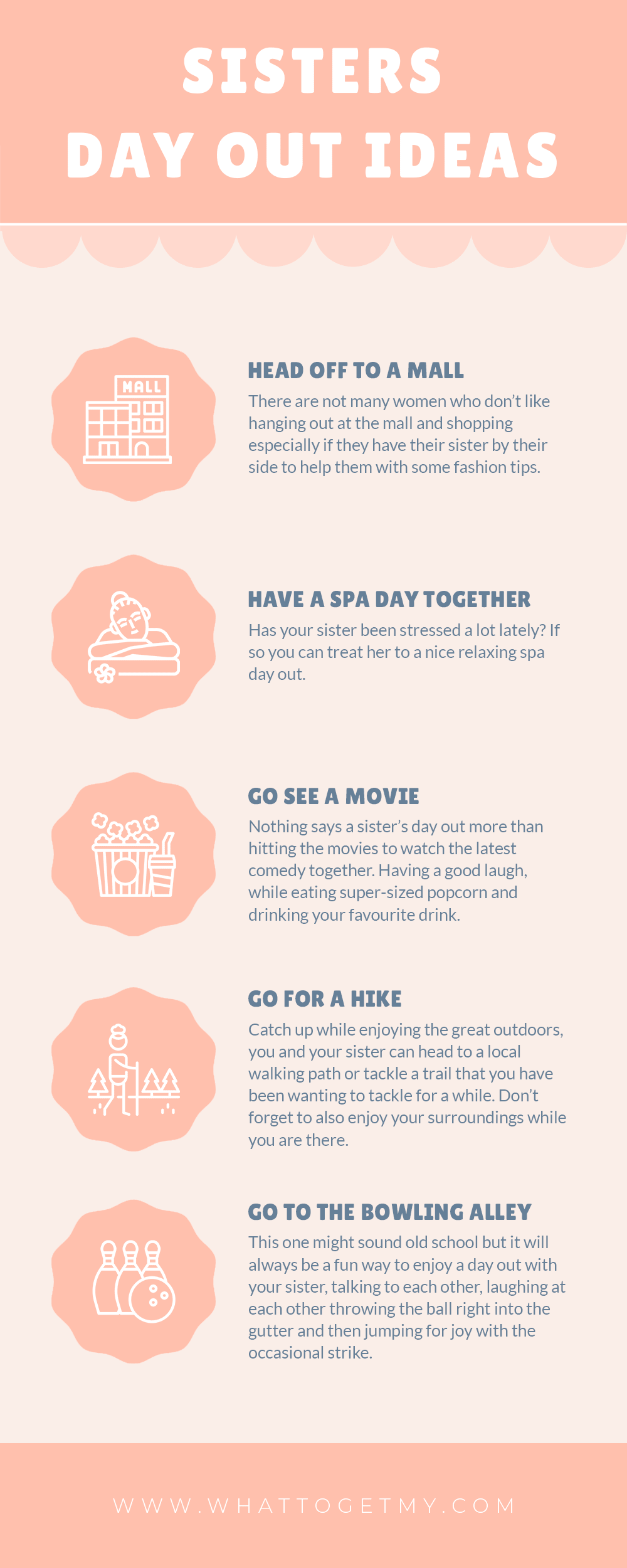 Infographic SISTERS DAY OUT IDEAS