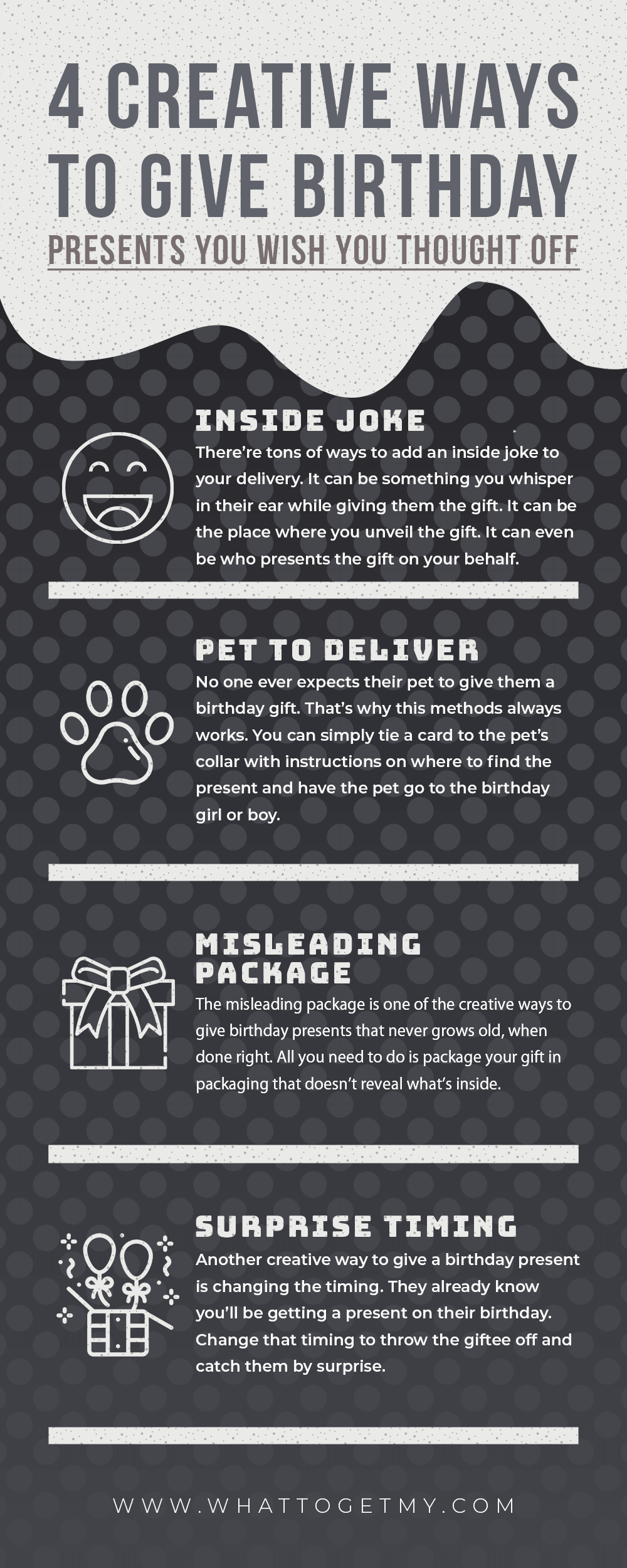 105. Infographic 4 Creative Ways to Give Birthday Presents You Wish You Thought Off-min