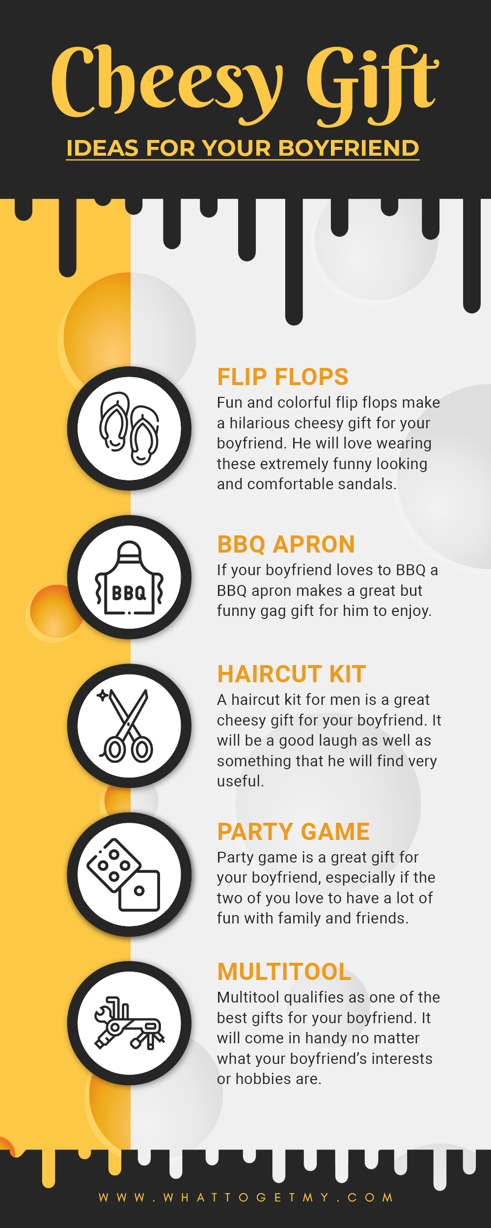 Infographic Cheesy gift Ideas for your boyfriend-min
