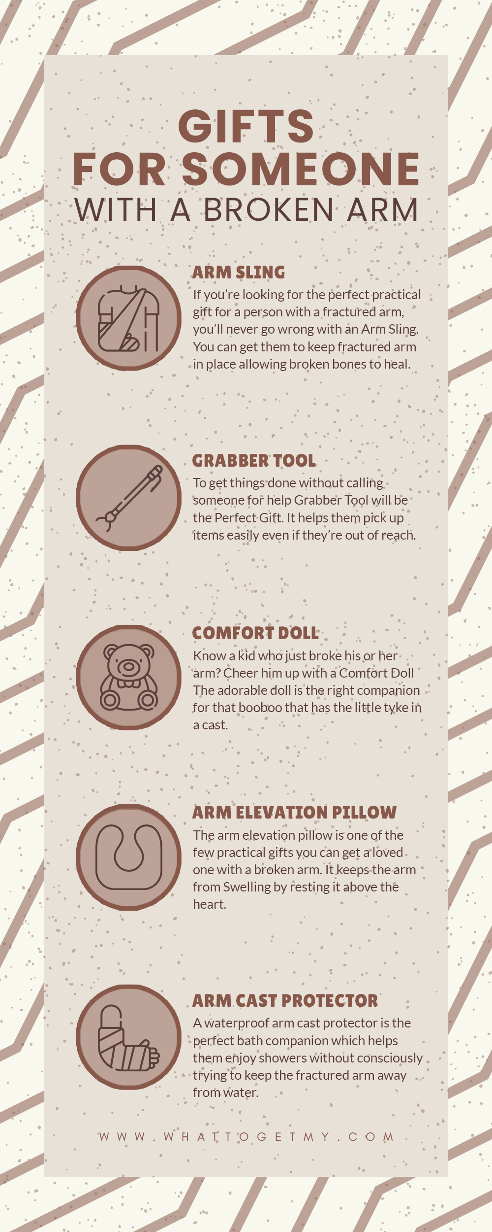 Infographic Gifts For Someone With a Broken Arm-min