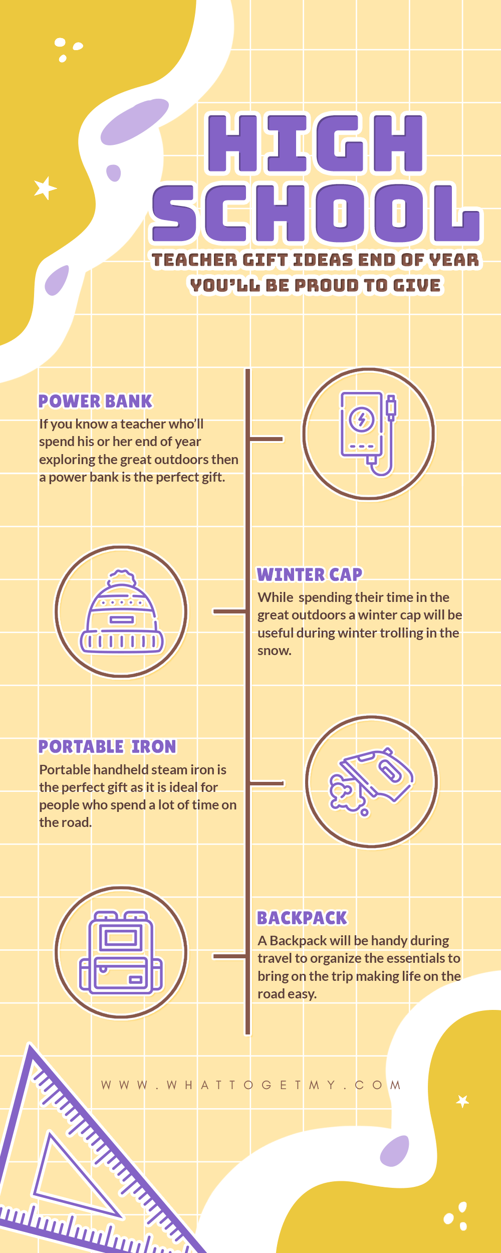 Infographic High School Teacher Gift Ideas End of Year You'll Be Proud to Give-min