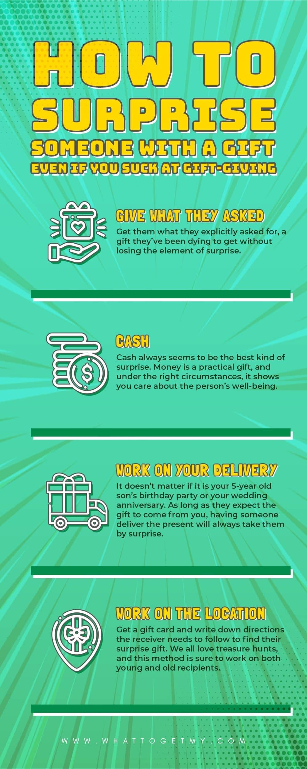 Infographic How to Surprise Someone with a Gift Even If You Suck at Gift-Giving