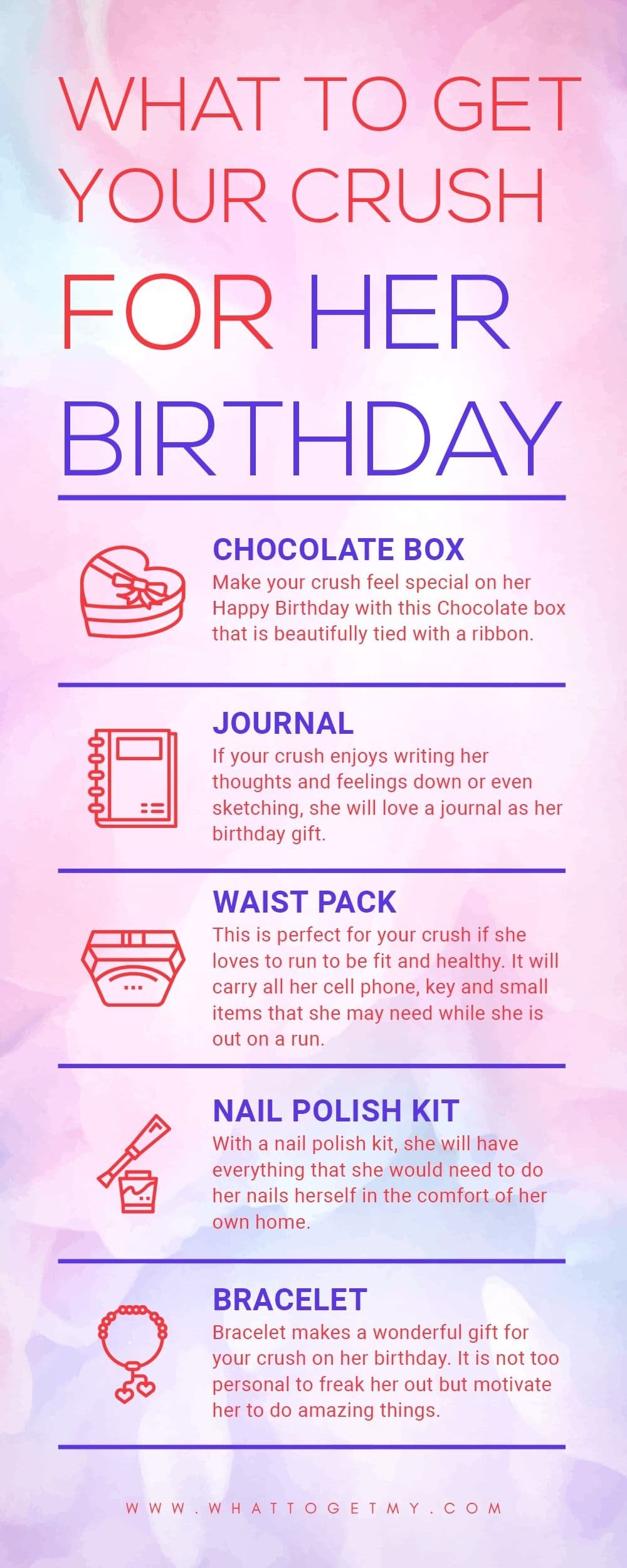 Infographic What to get your crush for her birthday-min