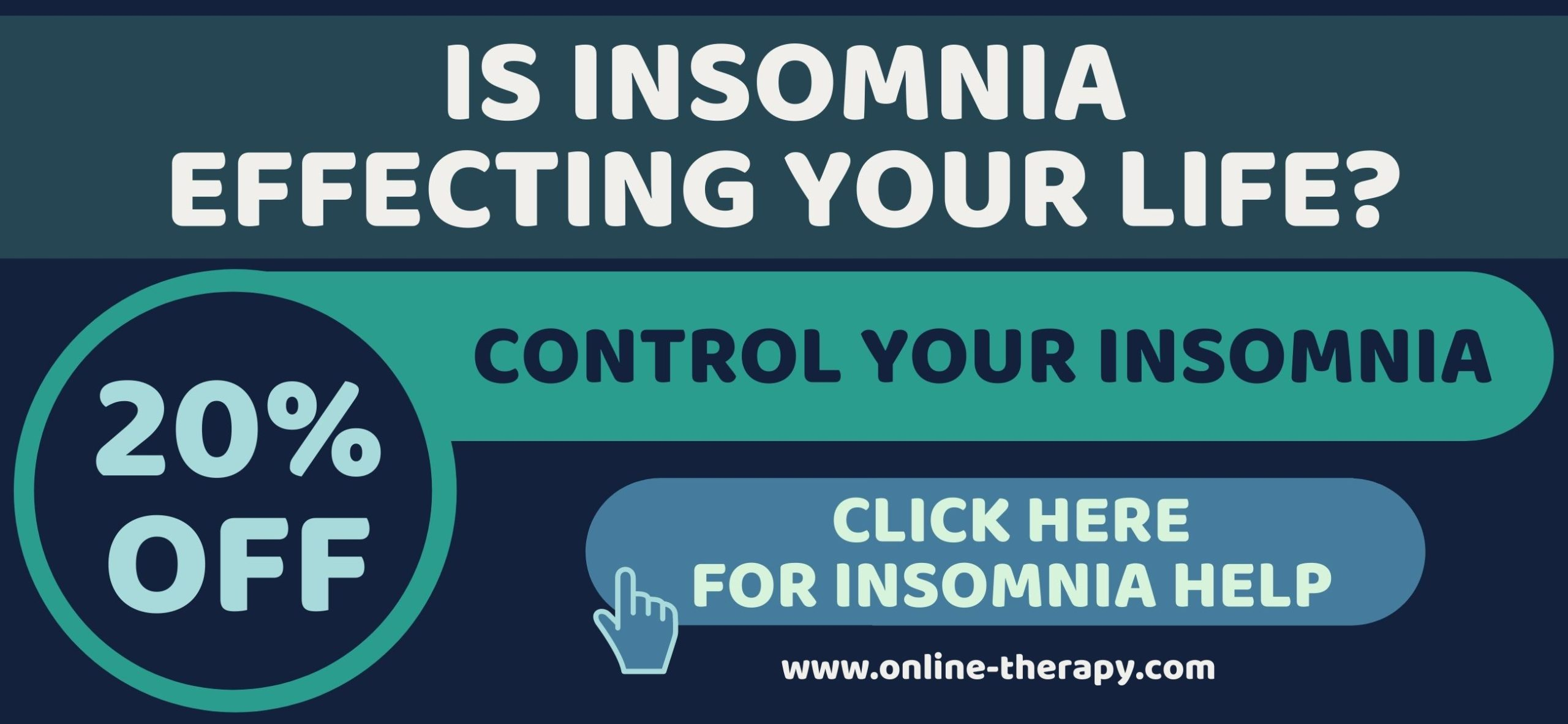 IS INSOMNIA EFFECTING YOUR LIFE