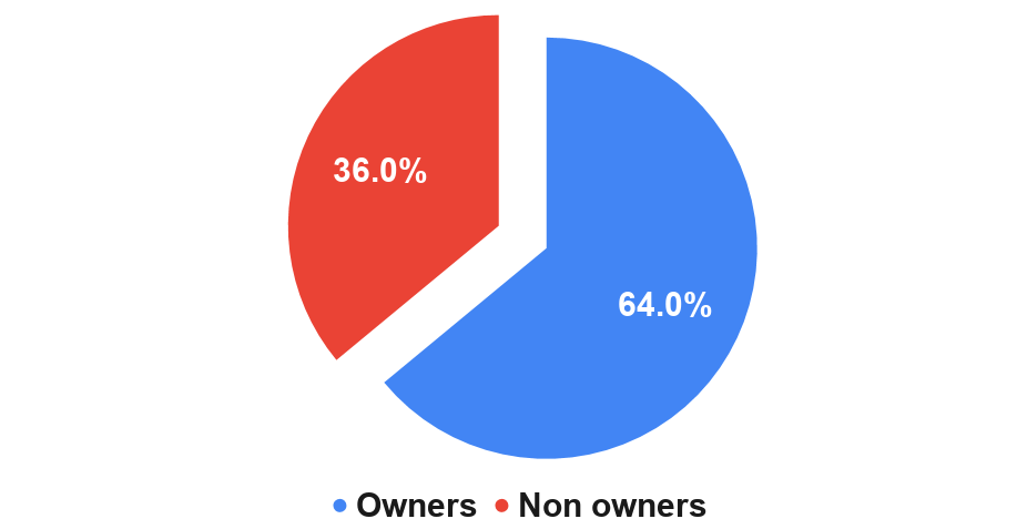 Almost two-thirds (64%) of US adults have a grill or smoker;
