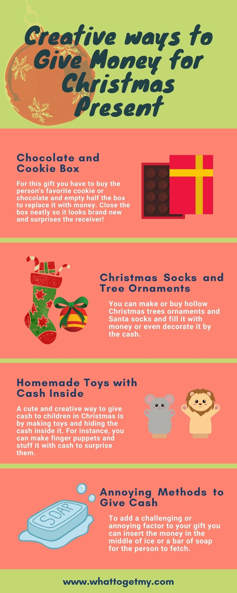 Creative ways to give money for christmas present
