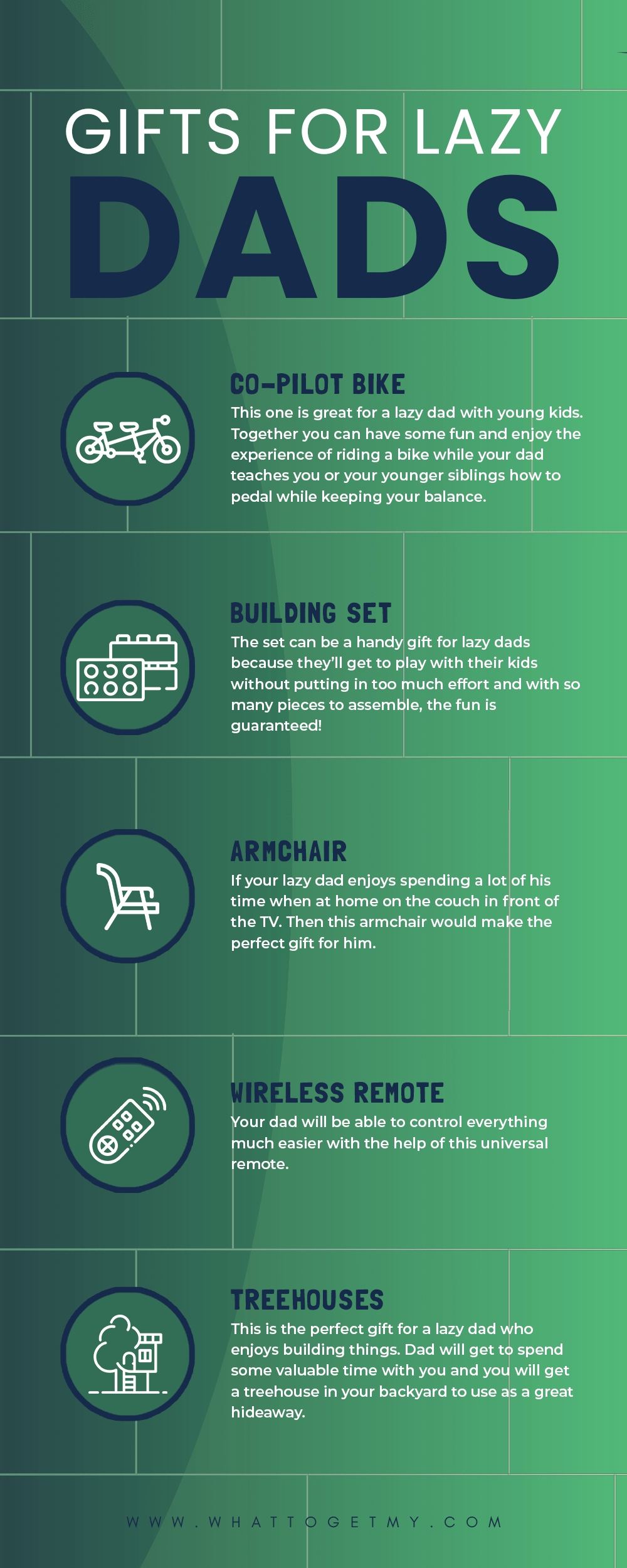 Gifts for Lazy Dads Infographic