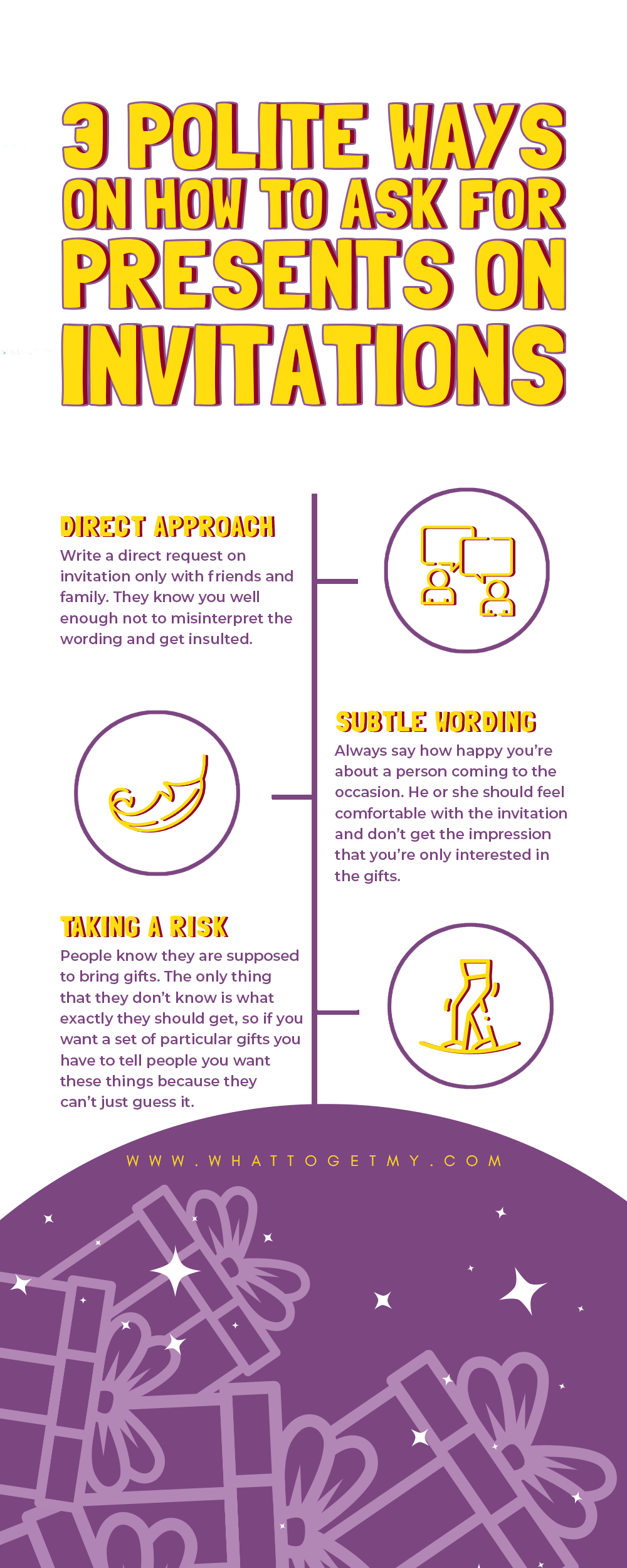 Infographic 3 Polite Ways on How to Ask for Presents on Invitations
