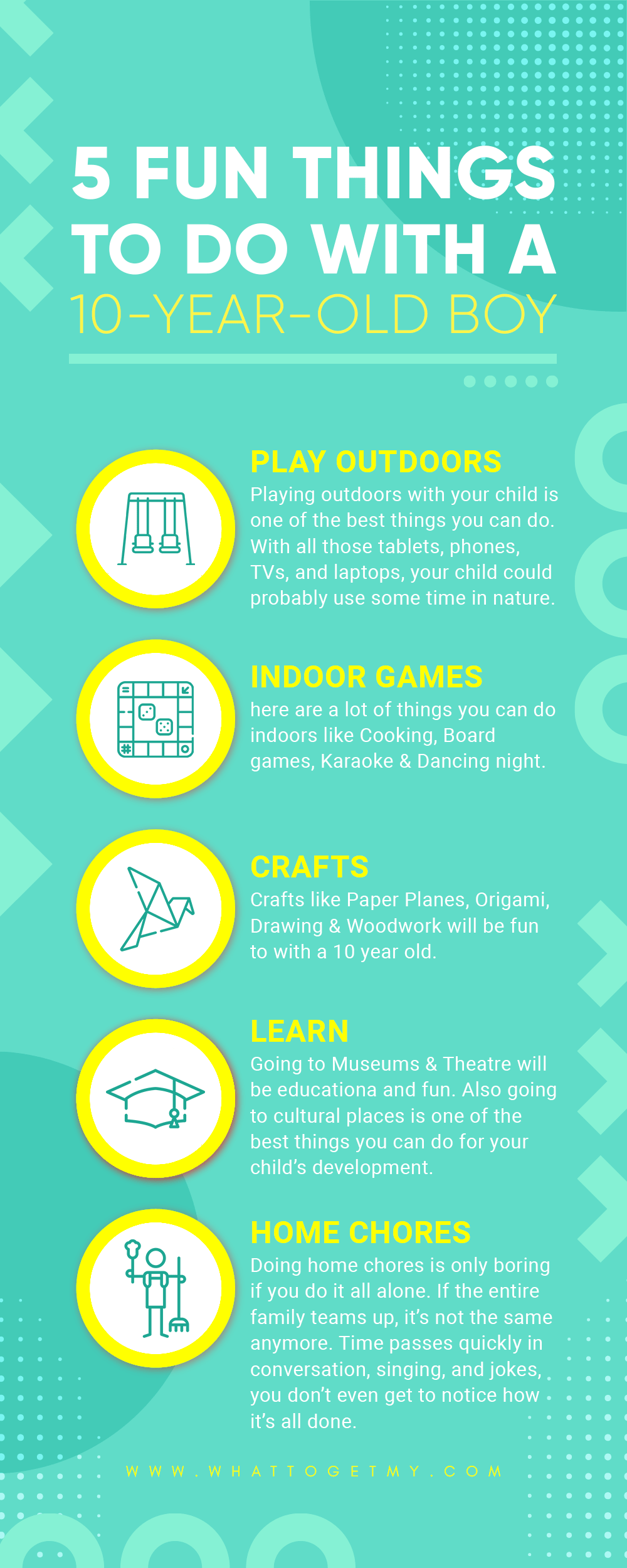 Infographic 5 Fun Things to Do With a 10-Year-Old Boy