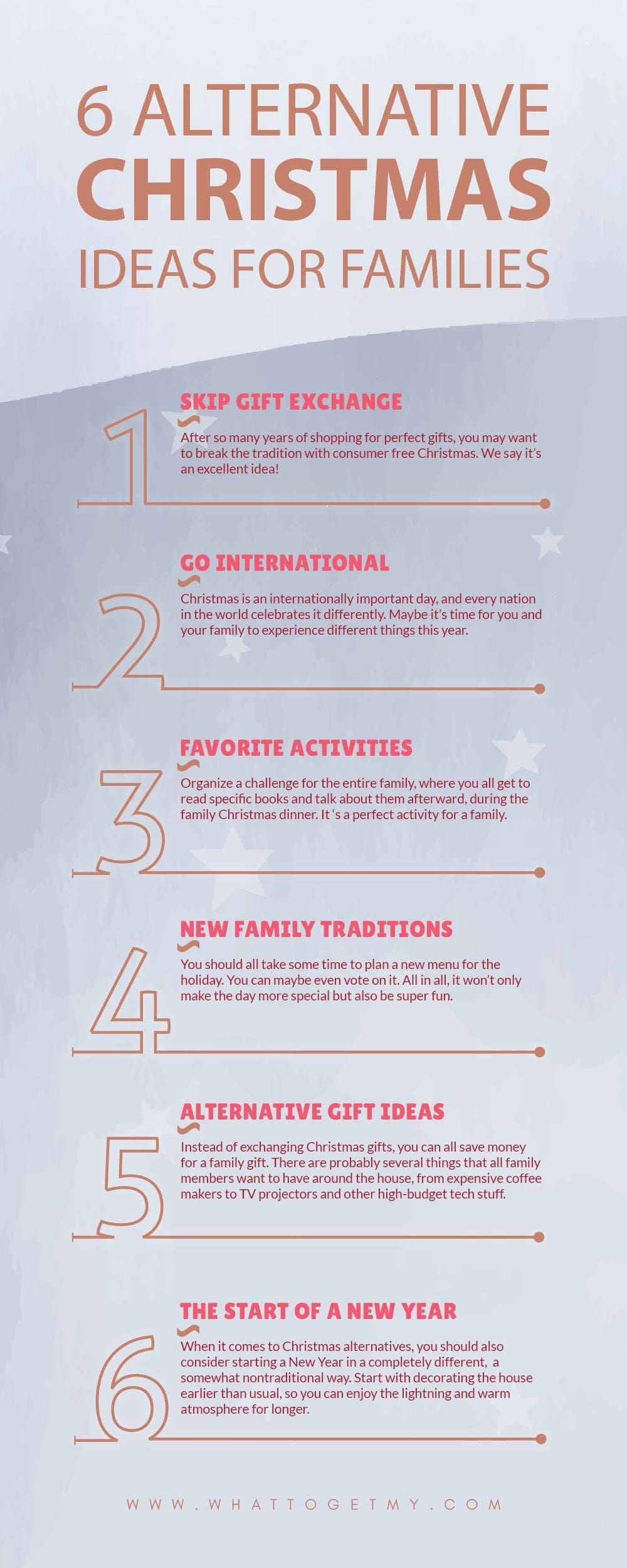 Infographic 6 Alternative Christmas Ideas for Families