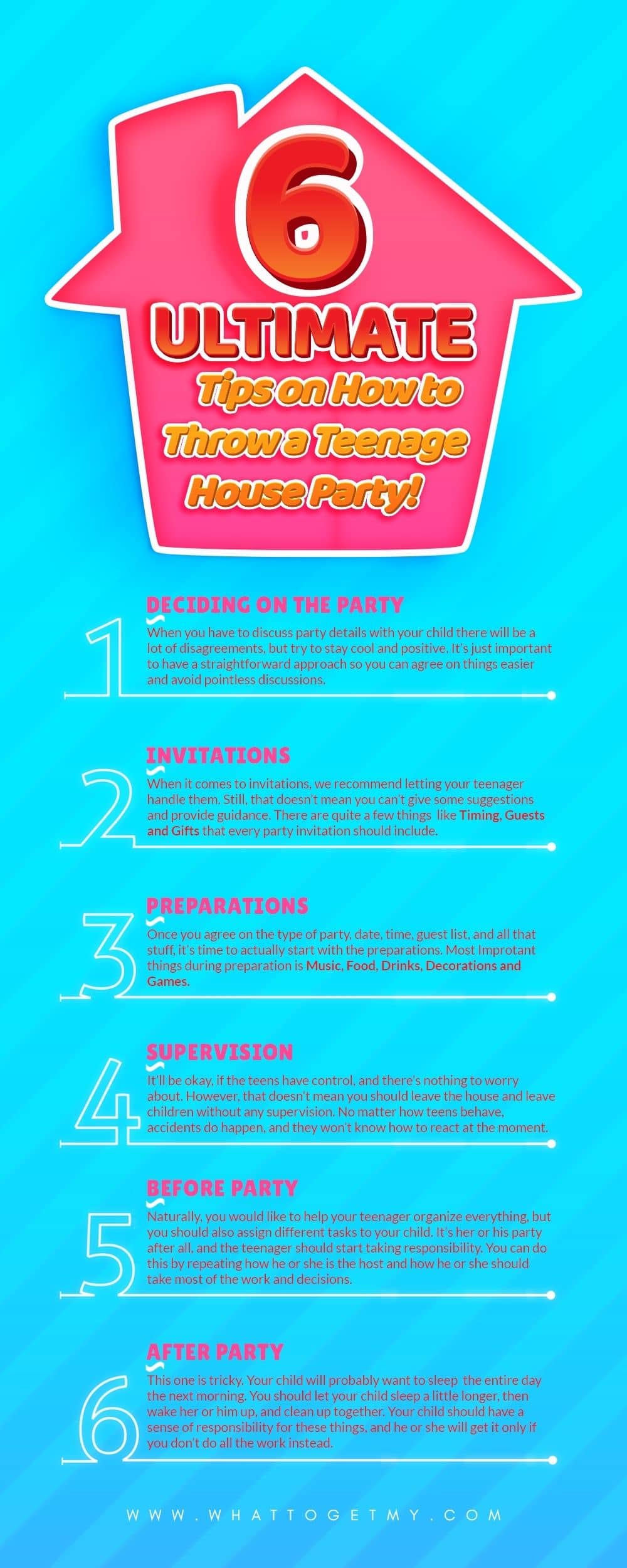 Infographic 6 Ultimate Tips on How to Throw a Teenage House Party