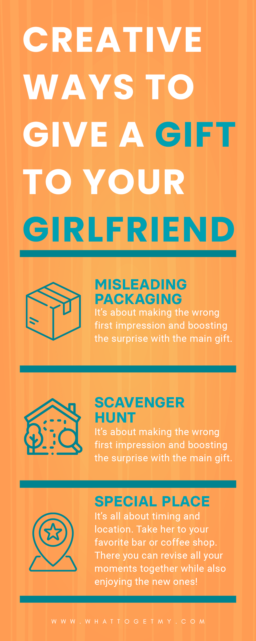 Infographic Creative Ways to Give a Gift to Your Girlfriend