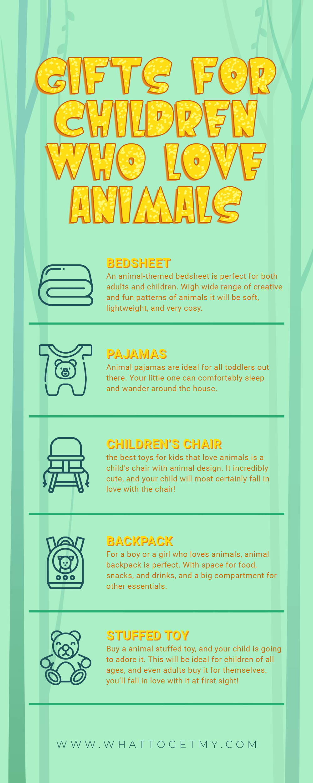 Infographic Gifts for Children Who Love Animals