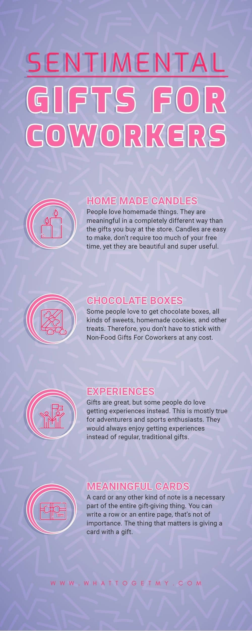 Infographic Sentimental gifts for coworkers