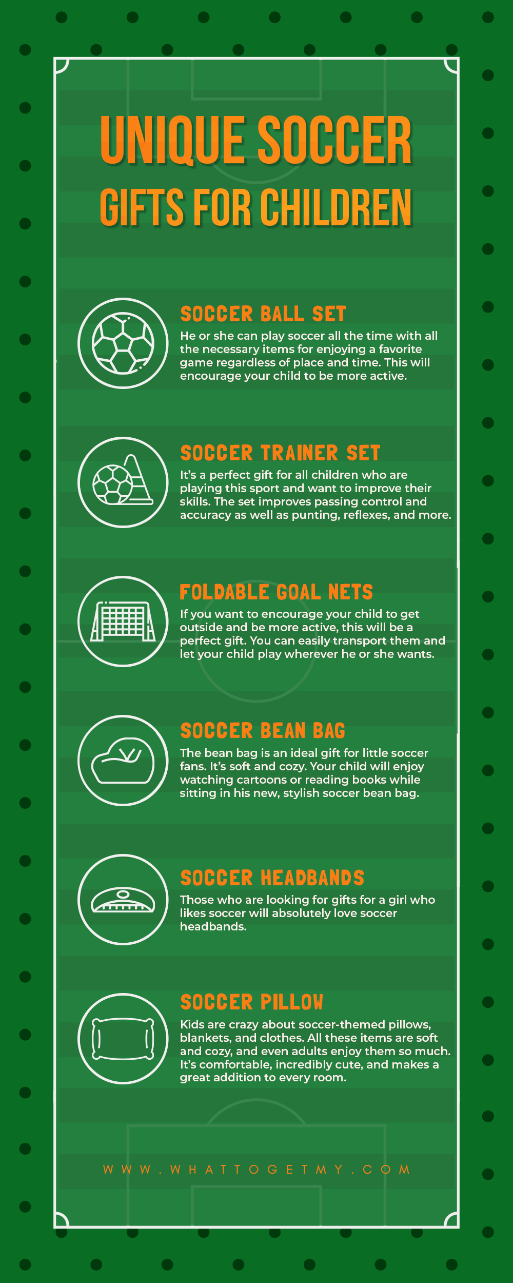 Infographic Unique Soccer Gifts for Children